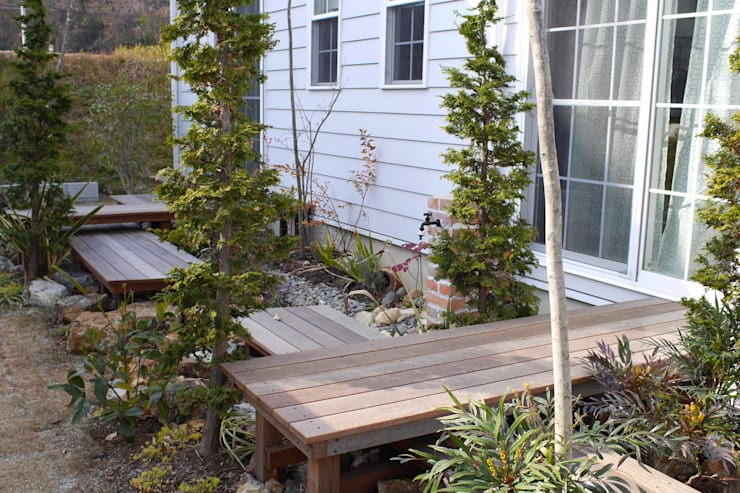 段・段・団らんな庭 - 写真03: 平山庭店が手掛けた庭です。