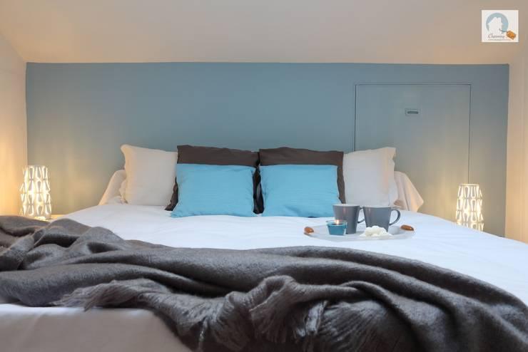 camera zona letto dopo:  in stile  di Charming Home