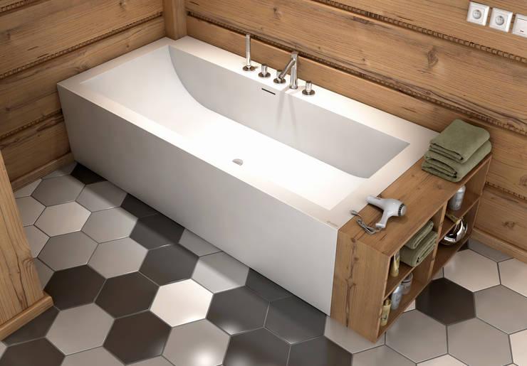 Nietypowa łazienka z wyposażeniem od LUXUM: styl , w kategorii Łazienka zaprojektowany przez Luxum