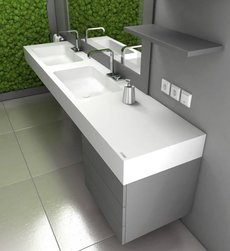 Nowoczesne wnętrze łazienki: styl , w kategorii Łazienka zaprojektowany przez Luxum