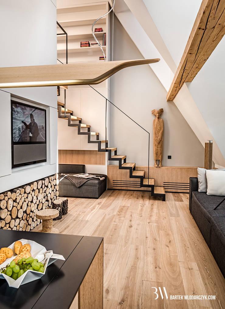 Salon: styl , w kategorii Salon zaprojektowany przez Bartek Włodarczyk Architekt,Nowoczesny
