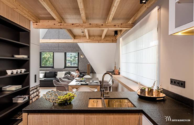 Kuchnia: styl , w kategorii Kuchnia zaprojektowany przez Bartek Włodarczyk Architekt,Nowoczesny