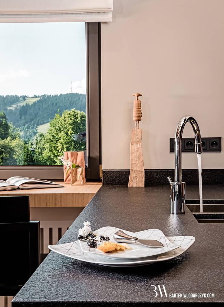 Kuchnia - blat roboczy: styl , w kategorii Kuchnia zaprojektowany przez Bartek Włodarczyk Architekt,Nowoczesny