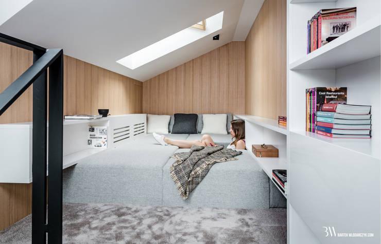 Antresola: styl , w kategorii Sypialnia zaprojektowany przez Bartek Włodarczyk Architekt,Nowoczesny