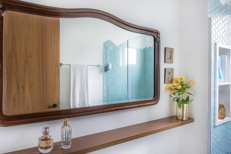 Rustic style bathroom by Alma em Design Rustic