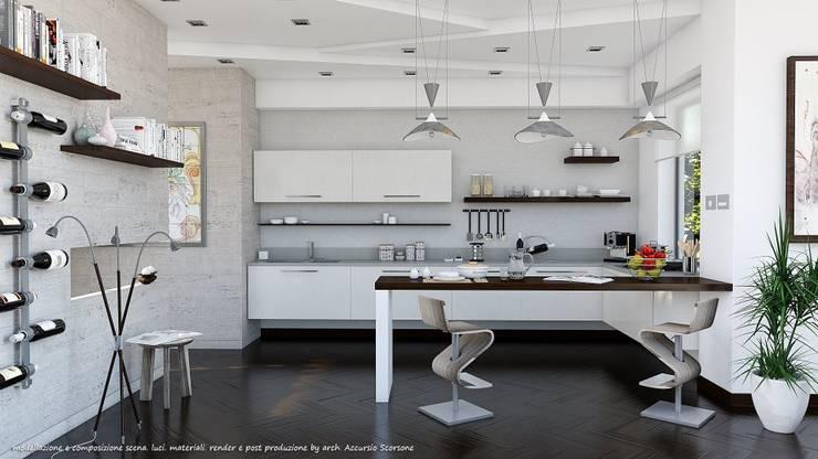 Project villa monofamiliare: Cucina in stile in stile Minimalista di Studio di Architettura