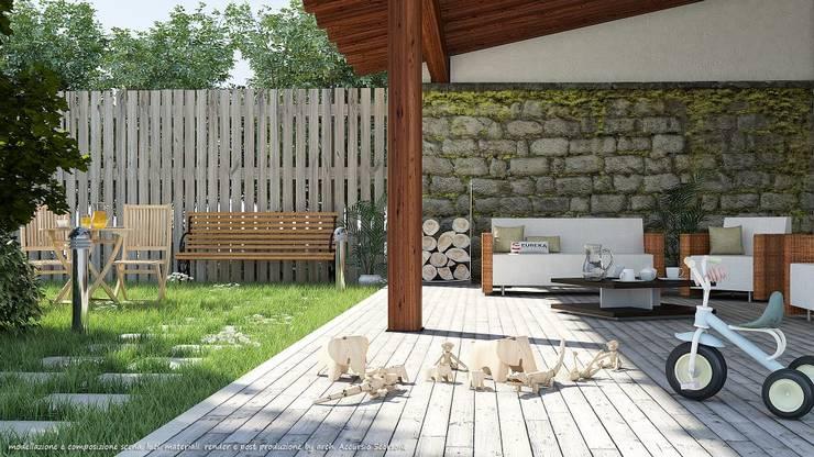 Project villa monofamiliare: Giardino in stile  di Studio di Architettura
