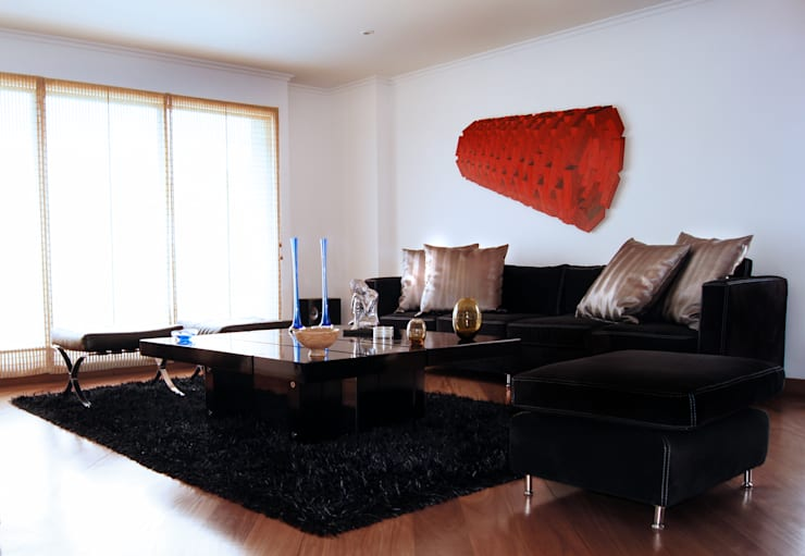 Gentleman Apartament ( apartamento para hombre soltero) Salas modernas de MARECO DESIGN S.A.S Moderno