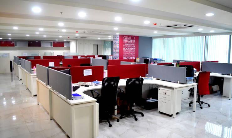 Berger office studio:  Study/office by ARETE studio