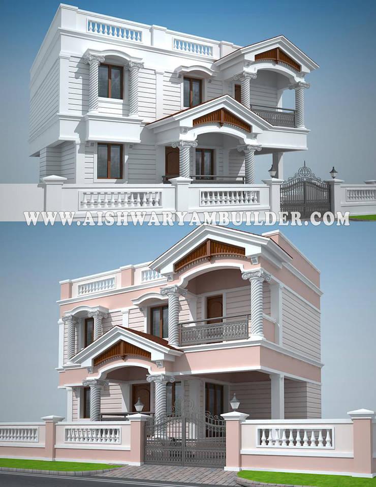 Modern residence Architect design :   by Aishwaryambuilder