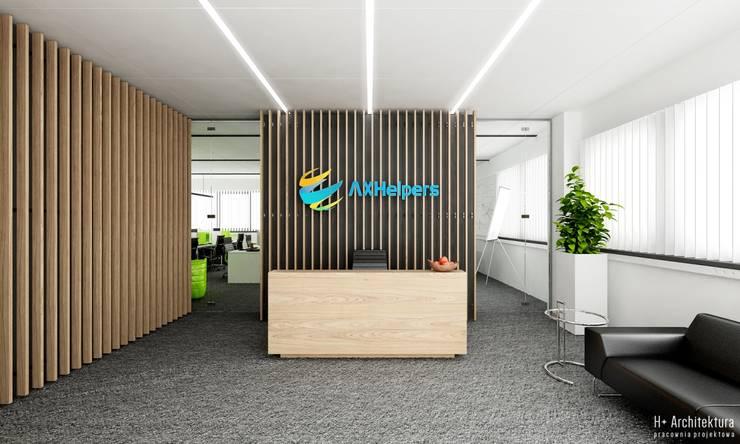 Recepcja: styl , w kategorii Biurowce zaprojektowany przez H+ Architektura