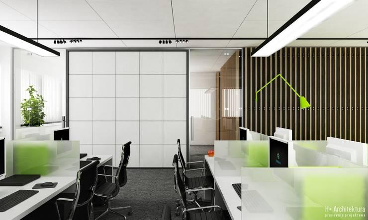 Open Space: styl , w kategorii Biurowce zaprojektowany przez H+ Architektura