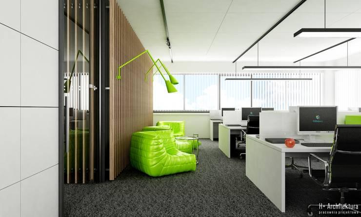 Chill Zone: styl , w kategorii Biurowce zaprojektowany przez H+ Architektura
