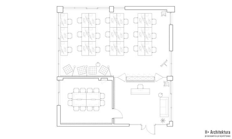 Plan: styl , w kategorii  zaprojektowany przez H+ Architektura