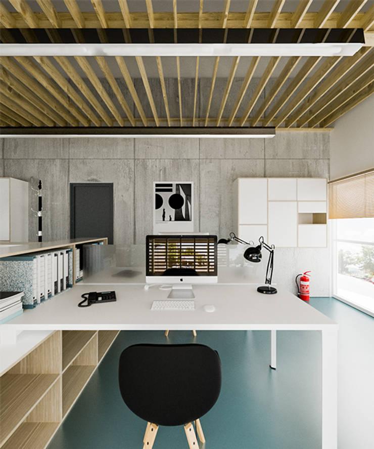 Офис для руководителя в стиле ЭКО: Офисные помещения в . Автор – Mebius Group