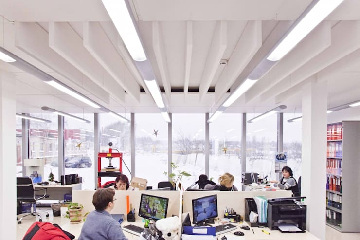 Проект интерьера для лаборатории завода <q>СМИТ</q>: Офисные помещения в . Автор – Mebius Group