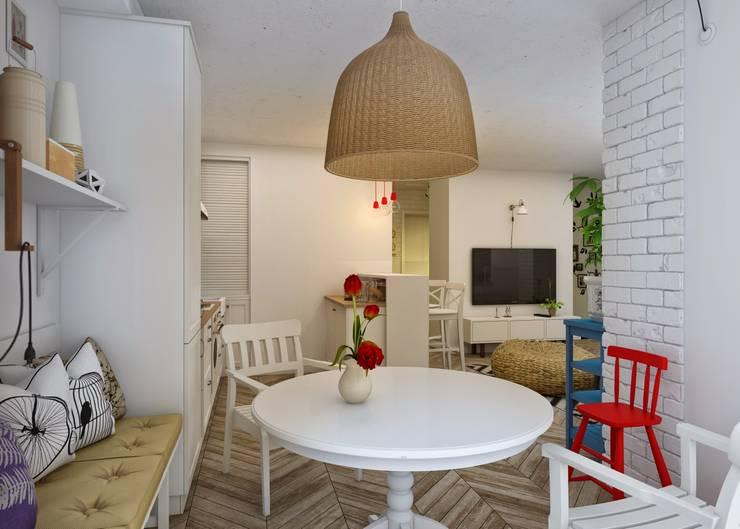 Проект апартаментов для молодой пары с ребенком: Кухни в . Автор – Mebius Group