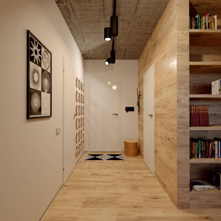 Проект квартиры в стиле эклектичного минимализма: Коридор и прихожая в . Автор – Mebius Group