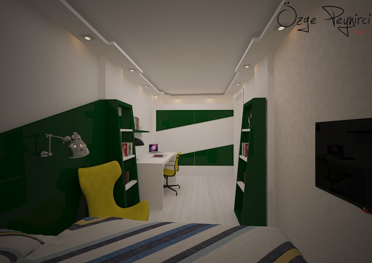 Deniz Gökçe Mimarlık ve İnşaat – Genç Odası:  tarz Çocuk Odası