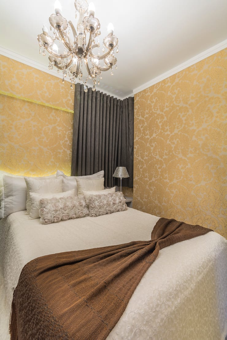 Dormitorios de estilo  de Lo. interiores,