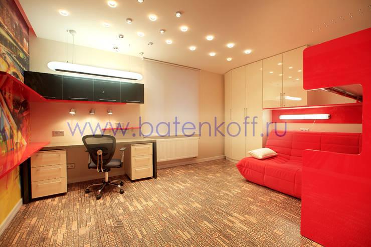 Фото детской комнаты по проекту от Батенькофф : Детские комнаты в . Автор – Дизайн студия 'Дизайнер интерьера № 1',