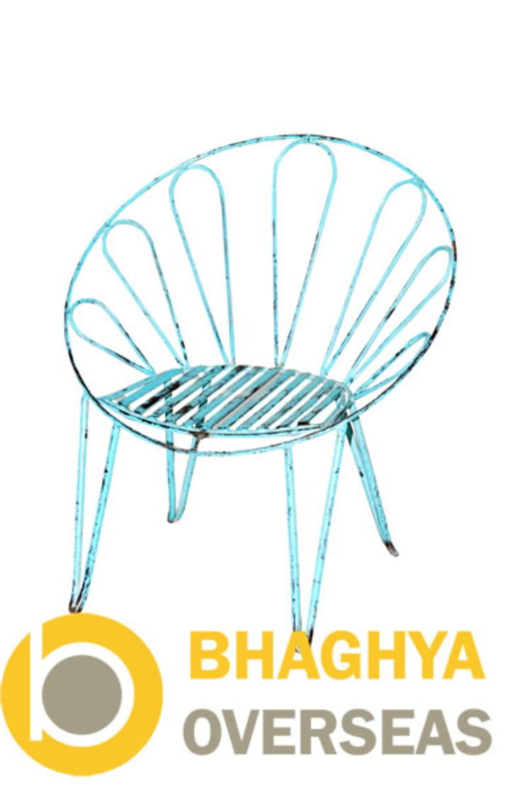 IRON UMBRELLA CHAIR:  Living room by BHAGHYA OVERSEAS