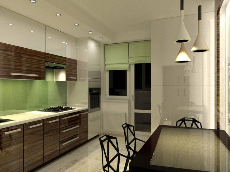 Для двоих: Кухни в . Автор – Дизайн студия Александра Скирды ВЕРСАЛЬПРОЕКТ