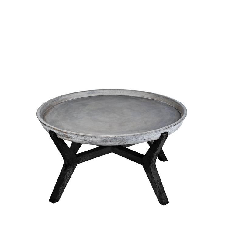 A'miou: Betonowo-akacjowy stolik Cona'x II: styl , w kategorii  zaprojektowany przez onemarket.pl,Egzotyczny