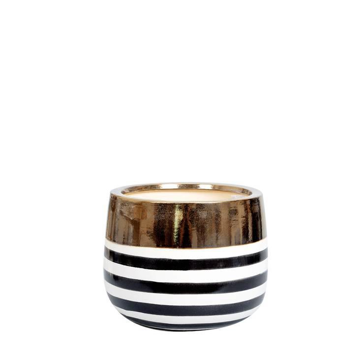 A'miou: Ceramiczna doniczka Golda'la L: styl , w kategorii  zaprojektowany przez onemarket.pl,Egzotyczny Ceramiczny