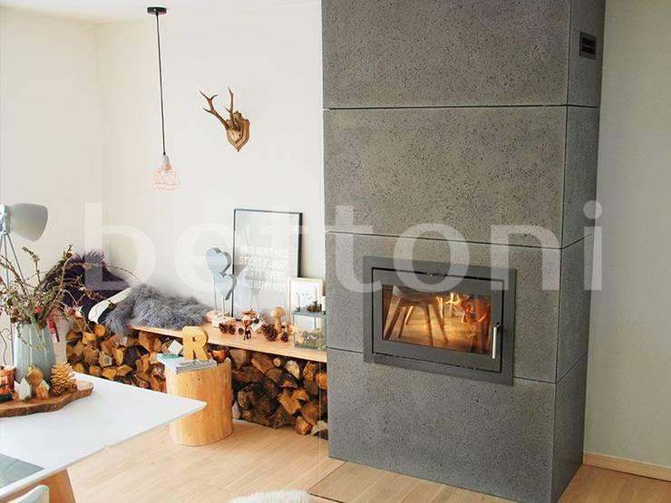 Płyty betonowe Bettoni: styl , w kategorii Ściany zaprojektowany przez DecoMania.pl,Minimalistyczny