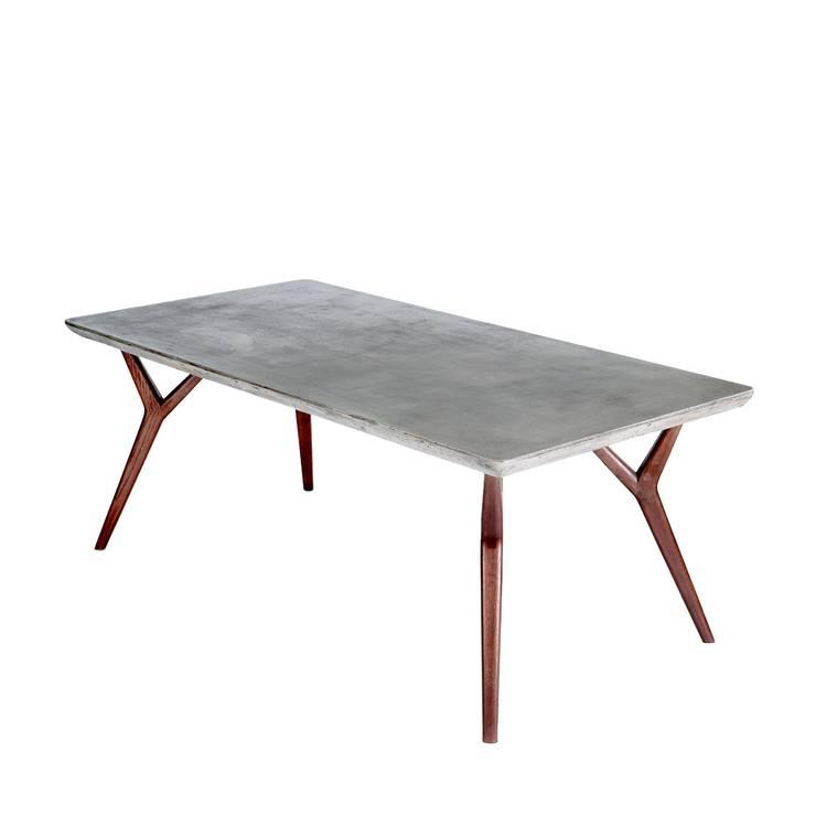 A'miou:  Betonowo-dębowy stół do jadalni Cona't II : styl , w kategorii Jadalnia zaprojektowany przez onemarket.pl
