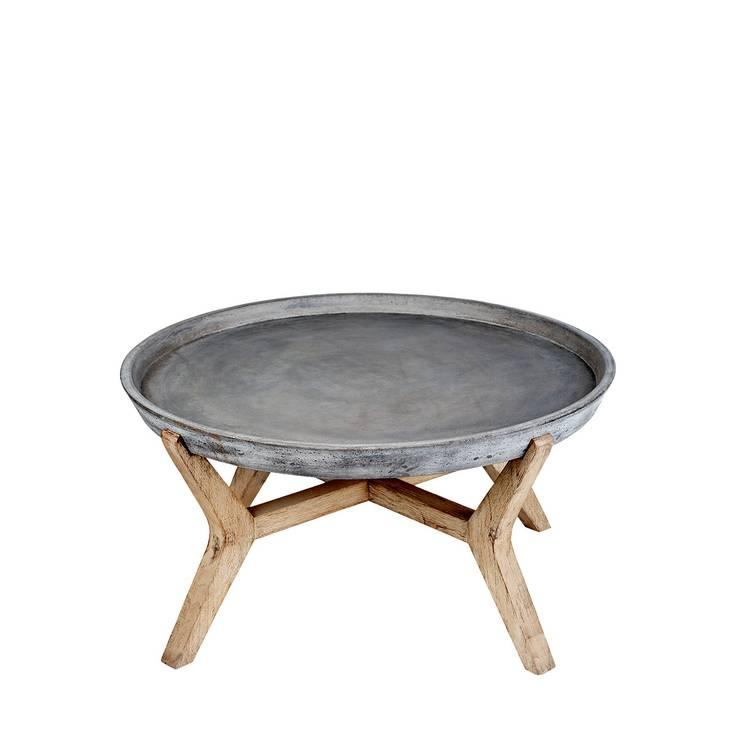 A'miou: Betonowo-akacjowy stolik Cona'x I: styl , w kategorii Jadalnia zaprojektowany przez onemarket.pl