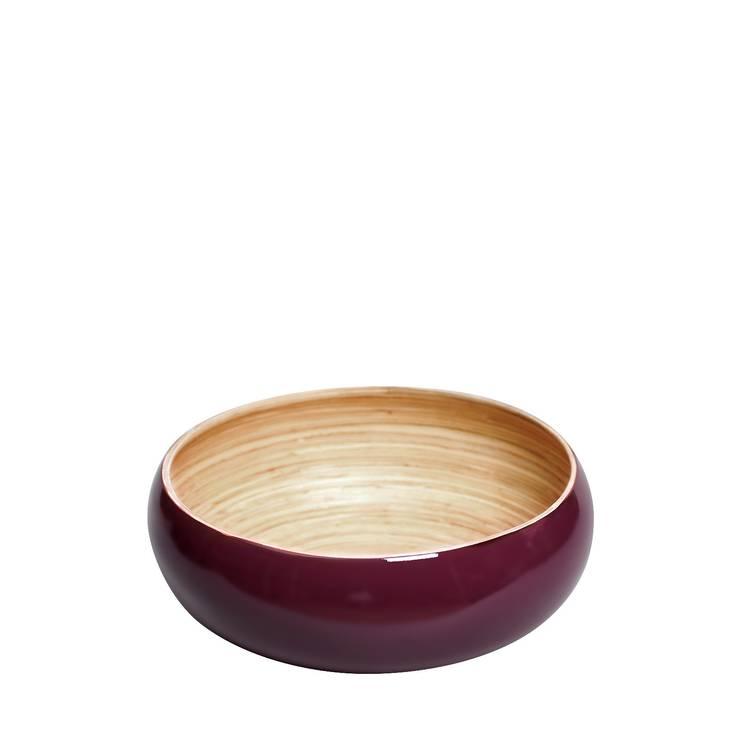A'miou: Bordowa miska bambusowa Mea': styl , w kategorii Jadalnia zaprojektowany przez onemarket.pl