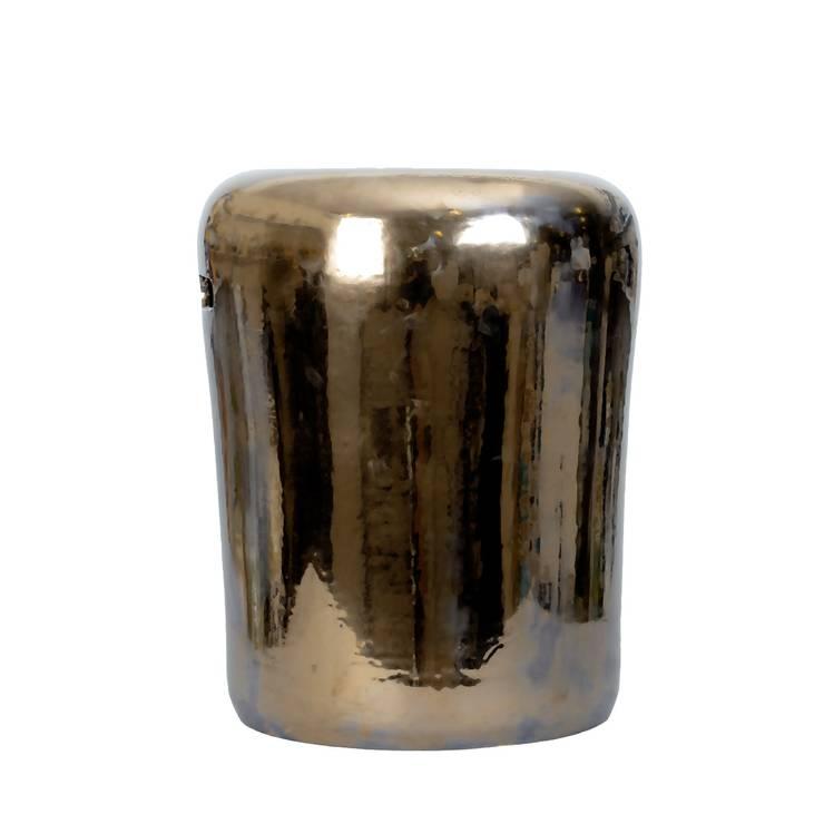 A'miou: Złoty stolik ceramiczny Lea'ns: styl , w kategorii Salon zaprojektowany przez onemarket.pl