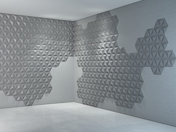 Płyty betonowe Bettoni: styl , w kategorii Ściany zaprojektowany przez DecoMania.pl