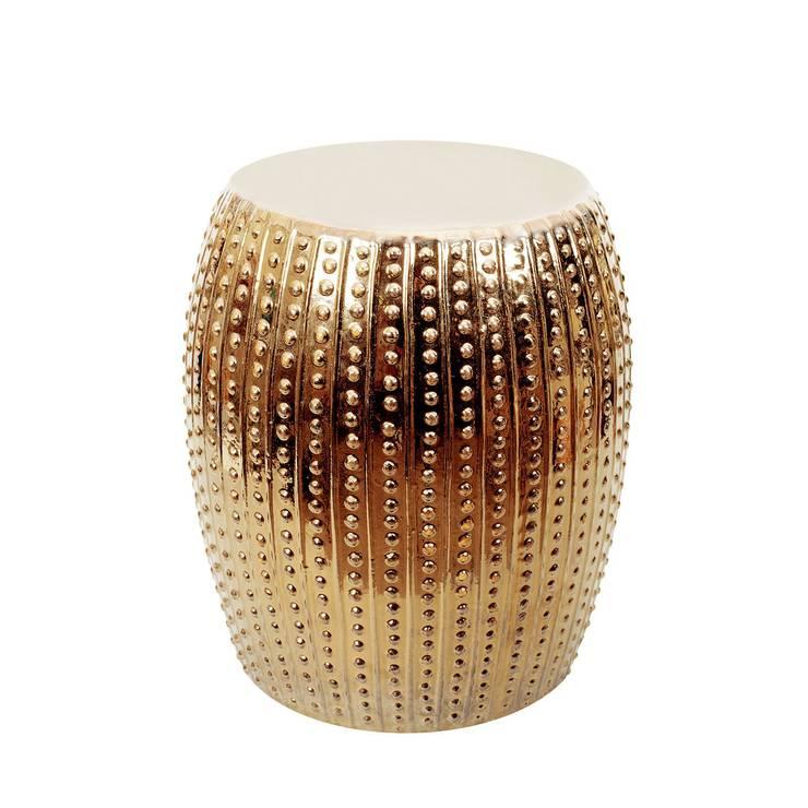 A'miou: Złoty stolik ceramiczny A'fios: styl , w kategorii Salon zaprojektowany przez onemarket.pl