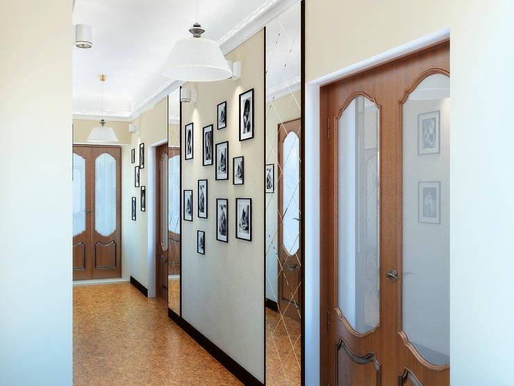 Дизайн студия Александра Скирды ВЕРСАЛЬПРОЕКТが手掛けた廊下 & 玄関