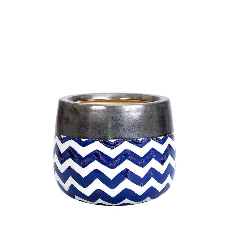 A'miou: Ceramiczna doniczka Wa've L: styl , w kategorii Gospodarstwo domowe zaprojektowany przez onemarket.pl