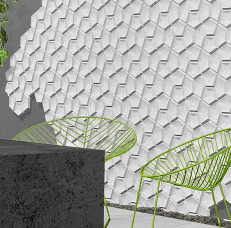 Płyty betonowe Artis Visio: styl , w kategorii Ściany zaprojektowany przez DecoMania.pl,Minimalistyczny