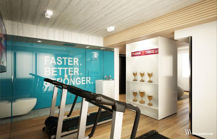 Prywatna sala fitness: styl , w kategorii Siłownia zaprojektowany przez Bartek Włodarczyk Architekt,Nowoczesny