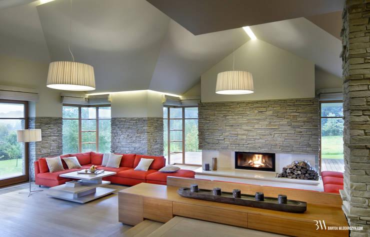 Modern Living Room by Bartek Włodarczyk Architekt Modern