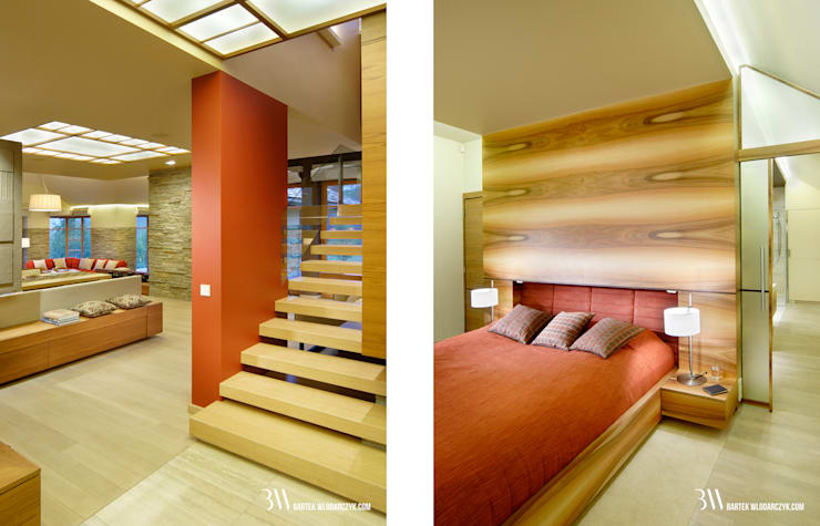 Modern Bedroom by Bartek Włodarczyk Architekt Modern