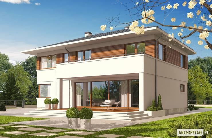 Projekt domu Nati G2 : styl , w kategorii Domy zaprojektowany przez Pracownia Projektowa ARCHIPELAG