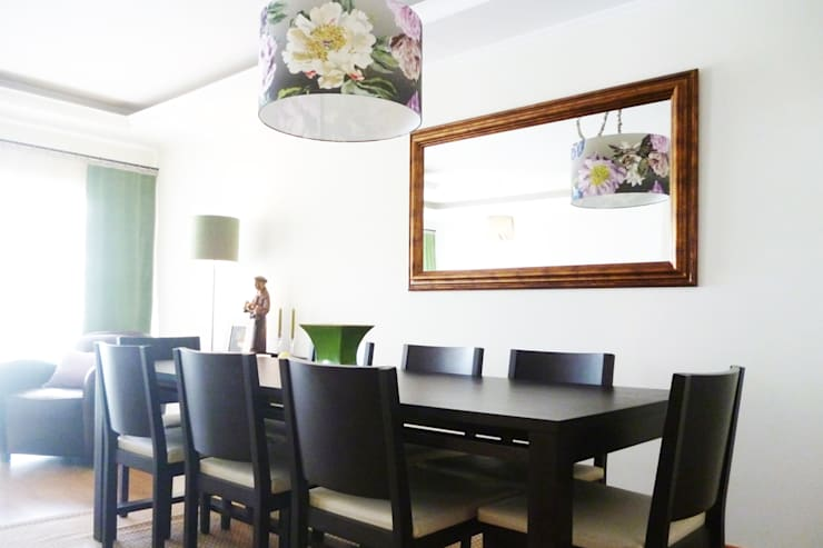 Sala Comum - zona de jantar: Salas de jantar  por maria inês home style