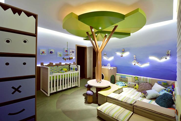 Nursery/kid's room by Mundstock Arquitetura