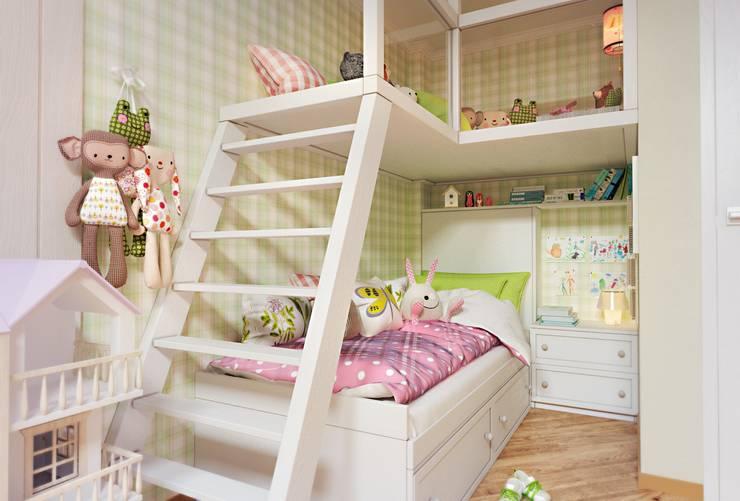 Dormitorios infantiles de estilo ecléctico por Katerina Butenko