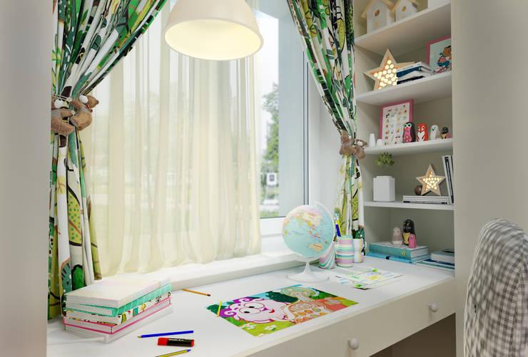 Проект квартиры для молодой пары с ребенком.: Детские комнаты в . Автор – Katerina Butenko