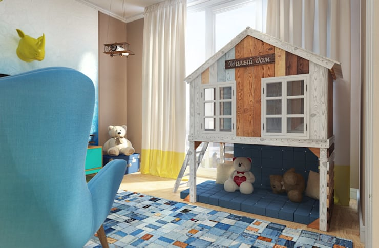Детская комната двухуровневая. Пентхаус.: Детские комнаты в . Автор – Katerina Butenko