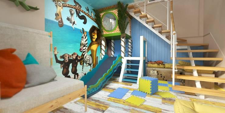 Детская комната двухуровневая. Пентхаус. Детские комната в эклектичном стиле от Katerina Butenko Эклектичный
