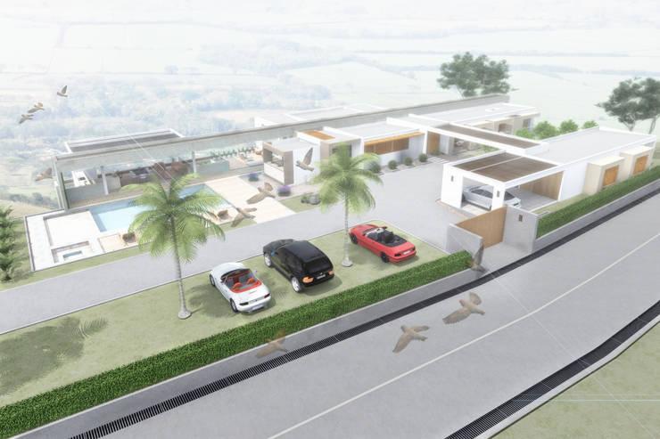 Visualización aérea: Casas de estilo  por Ar4 Arquitectos, Minimalista